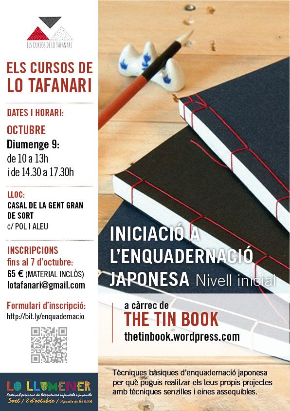 Curs d'enquadernació japonesa organitzat per Lo Tafanari